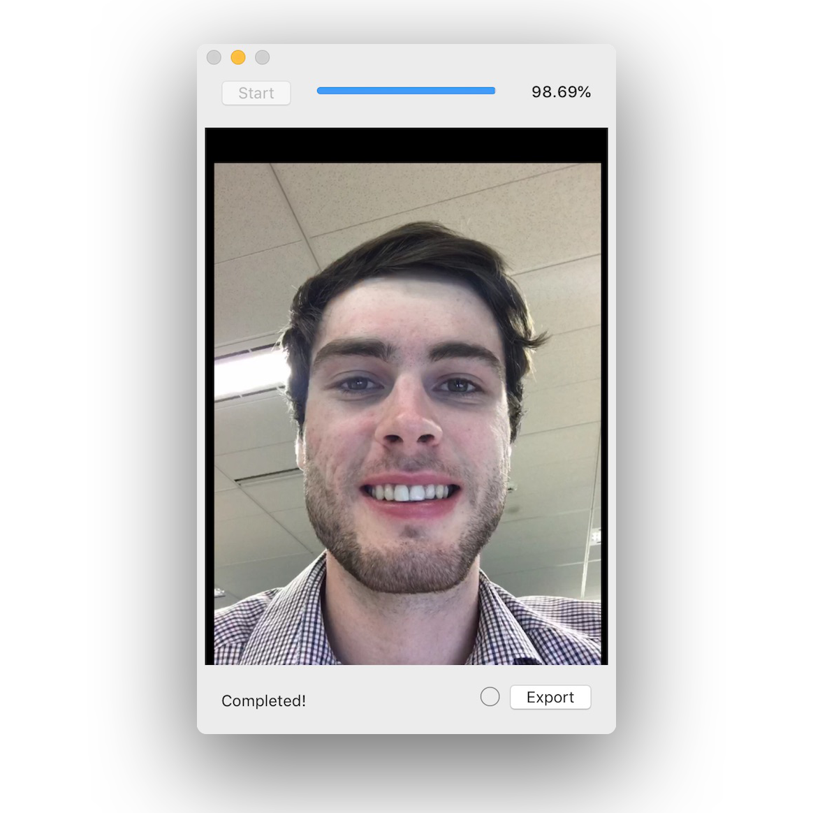 Screenshot of Selfie App